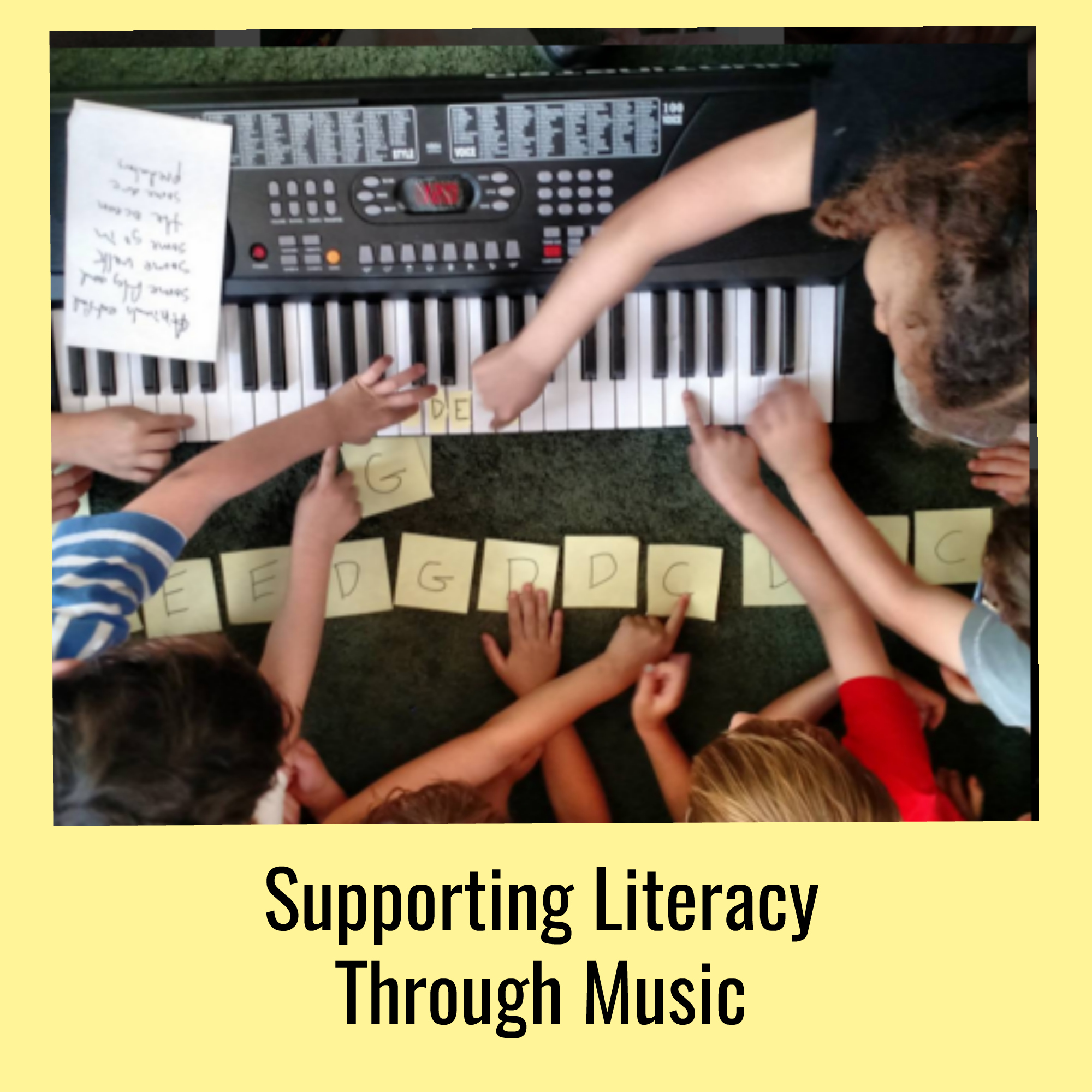 Supporting Literacy Through Music